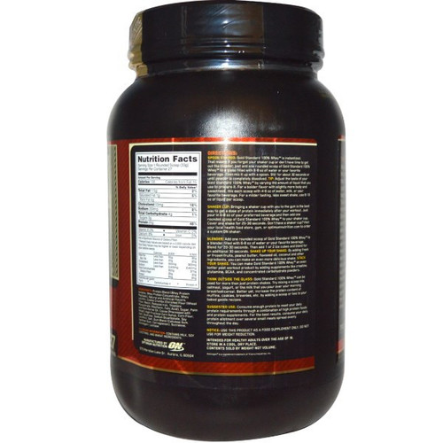 Optimum Nutrition 100% Whey Gold Standard (Back)