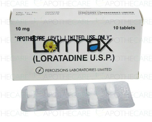 Lormax Tablets 10MG 10 Tablets