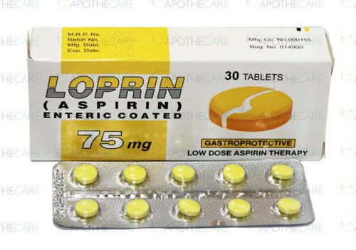 Loprin (Aspirin) Enteric Coated 75MG Tablets