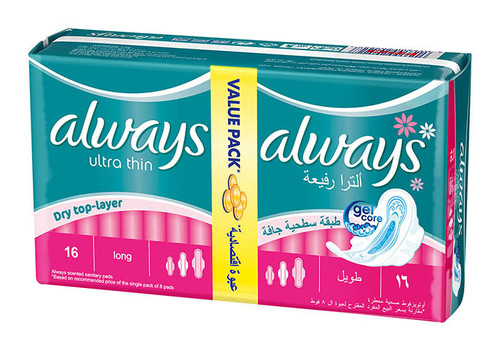 Always Pads Ultra Thin Long 16