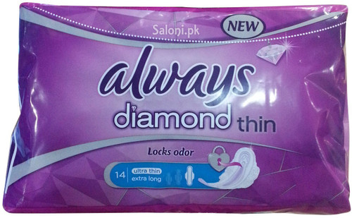 Always Pads Diamond Ultra Thin Extra Long 14