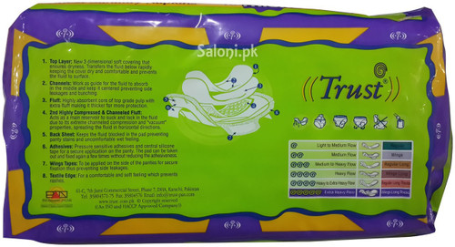 Trust Finest Sanitary Napkins Thicks 10 Wings Long Stick-one
