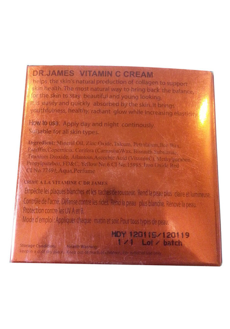 Dr.James Vitamin C Cream Back