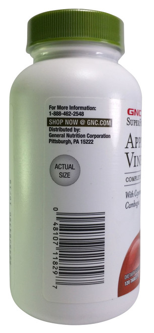 GNC SuperFoods Apple Cider Vinegar Dietary Supplement (120 Tab)