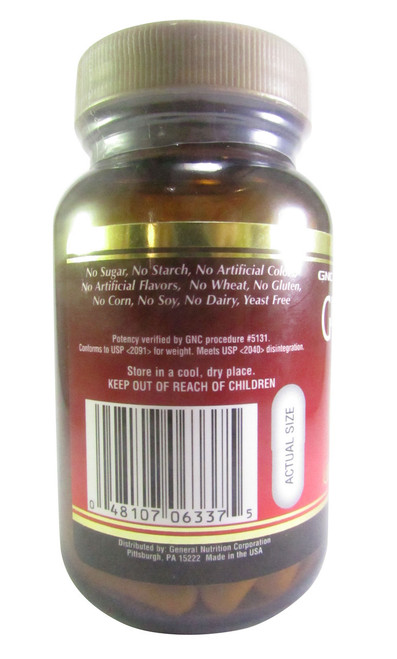 GNC Ginseng Gold Standardized American White Ginseng(Side)