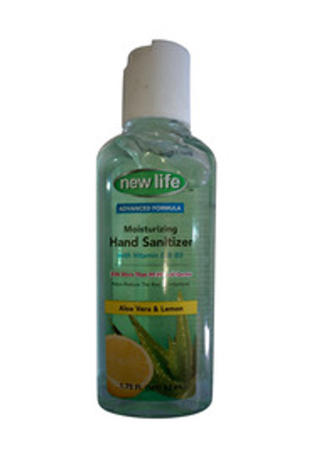 New Life Moisturising Hand Sanitizer with Aloe Vera and Lemon Front