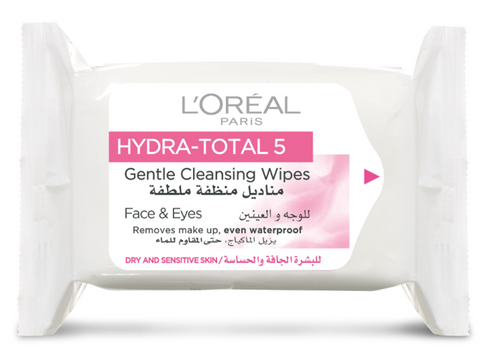 L'Oreal Paris Hydra Total 5 Gentle Cleansing Wipes (Dry & Sensitive Skin) 25s Buy Online In Pakistan Best Price Original Product