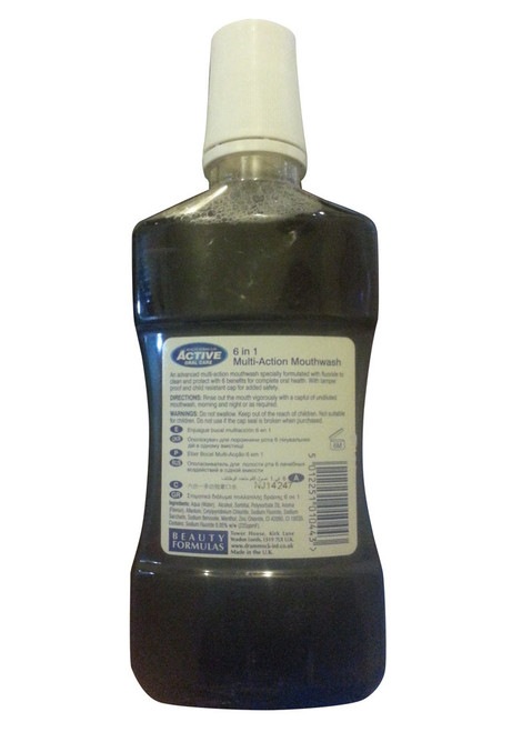 Active Oral Care 6 In 1 Multi-Action Mouthwash 500 ML