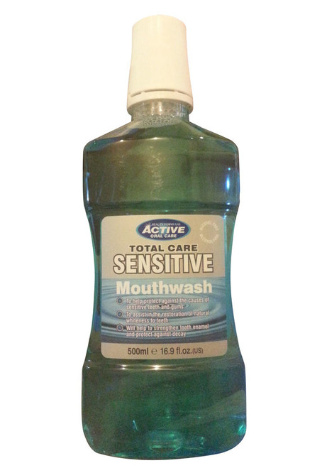 Active Oral Care Total Care Sensitive Alcohol Free Mouthwash Front