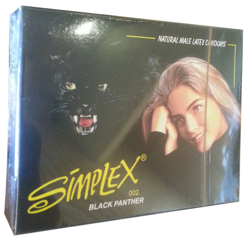 Simplex Black Panther Natural Male Latex Condom 3 Pieces Buy Online In Pakistan