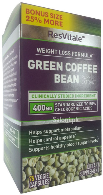 GNC ResVitale Weight Loss Green Coffee Bean 400 MG best price