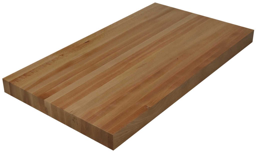 Beech edge grain butcher block countertop hardwood