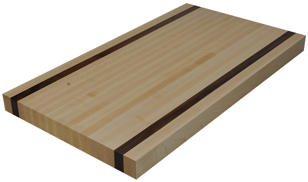 Charming Maple Edge Grain Butcher Block Countertop With 2 Walnut Strips