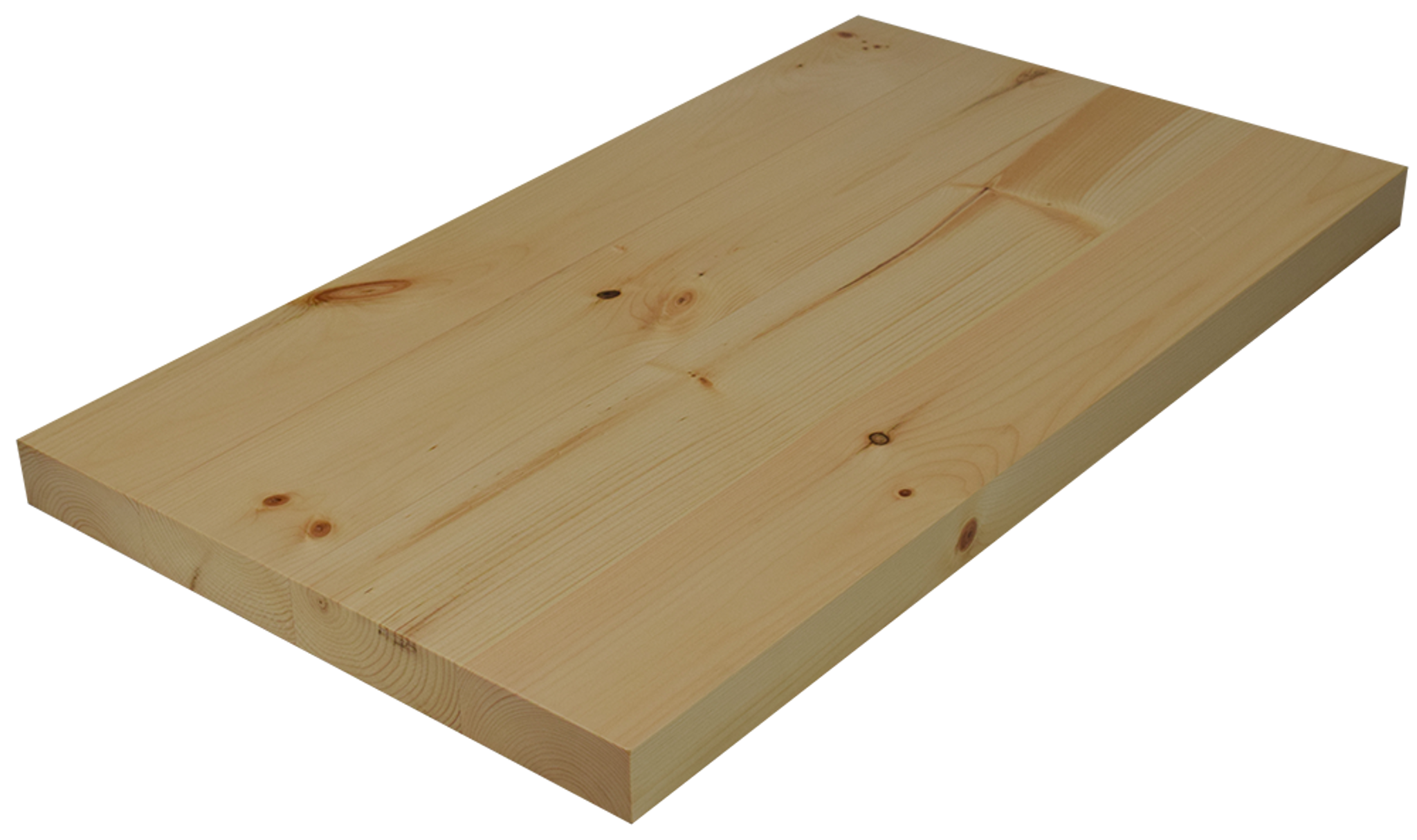 Knotty pine wide plank face grain countertop hardwood for Plank blocks