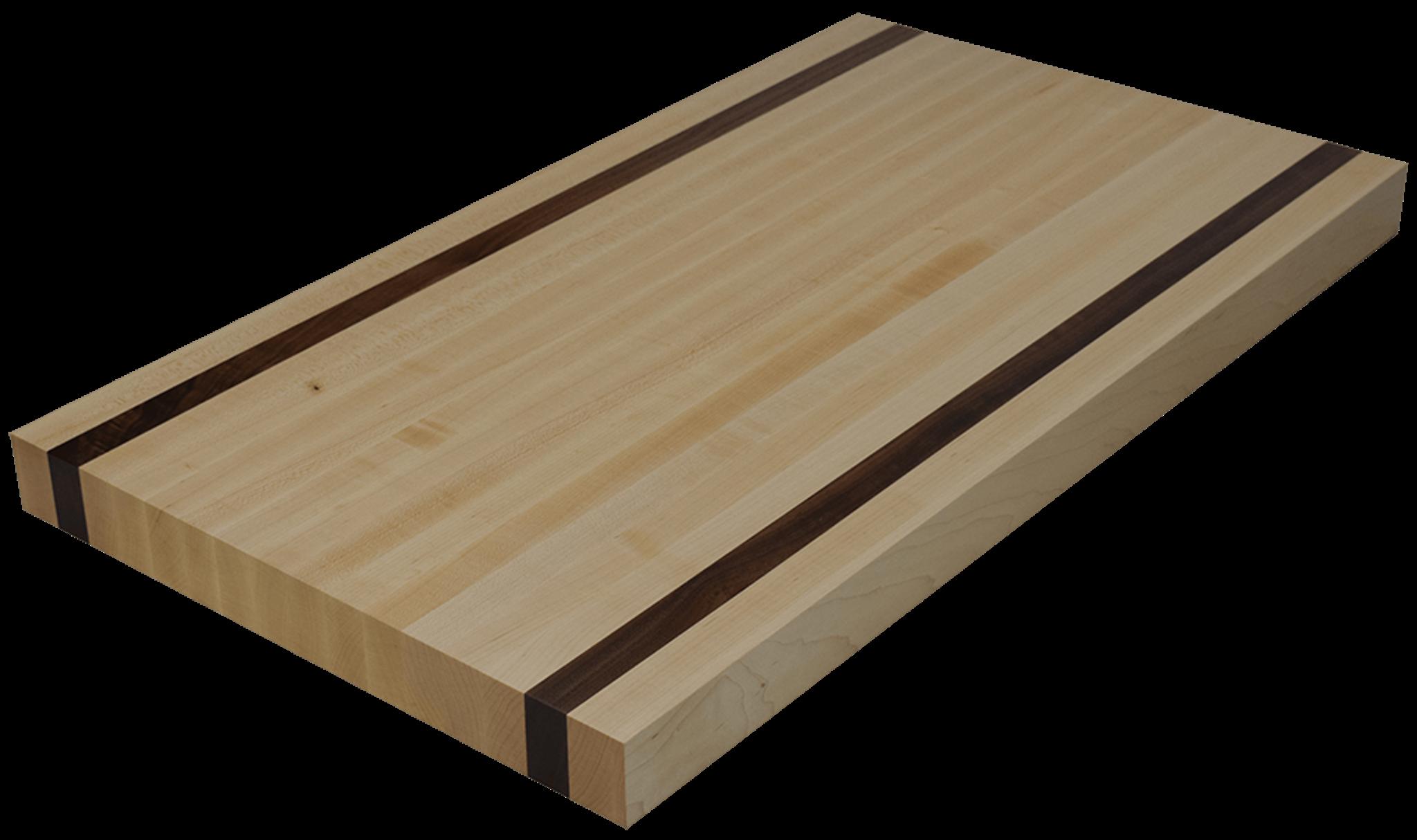 maple edge grain butcher block countertop with 2 walnut strips hardwood lumber company. Black Bedroom Furniture Sets. Home Design Ideas