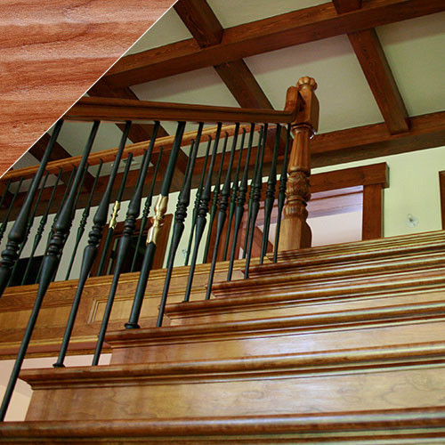 Handscraped Wood Stair Risers