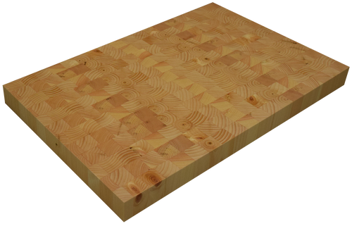 Knotty Pine End Grain Butcher Block Countertop