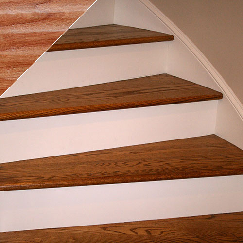 Handscraped Wood Stair Treads