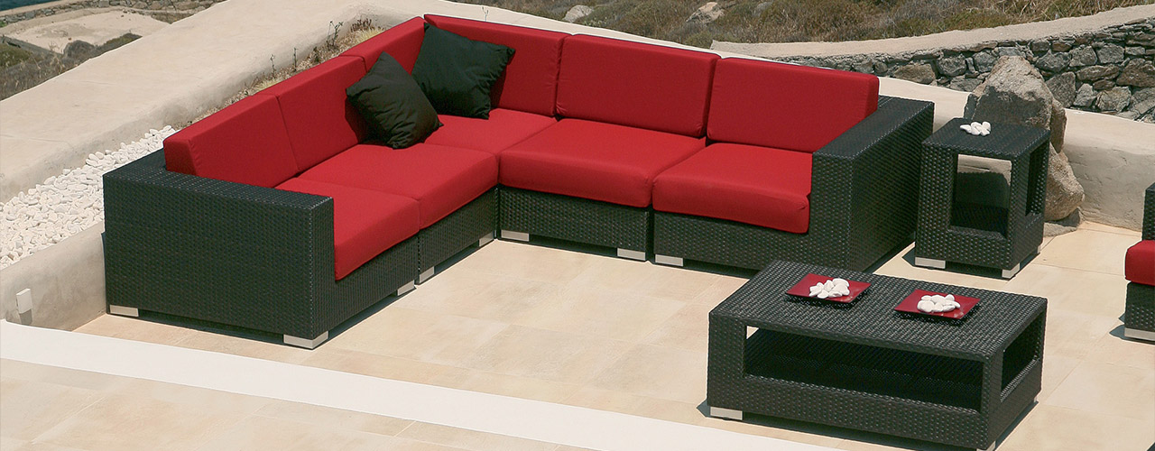 barlow tyrie arizona modern outdoor woven sectionals authenteak