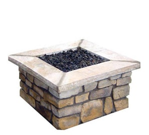 R&R Living Custom Square Stone Fire Pit