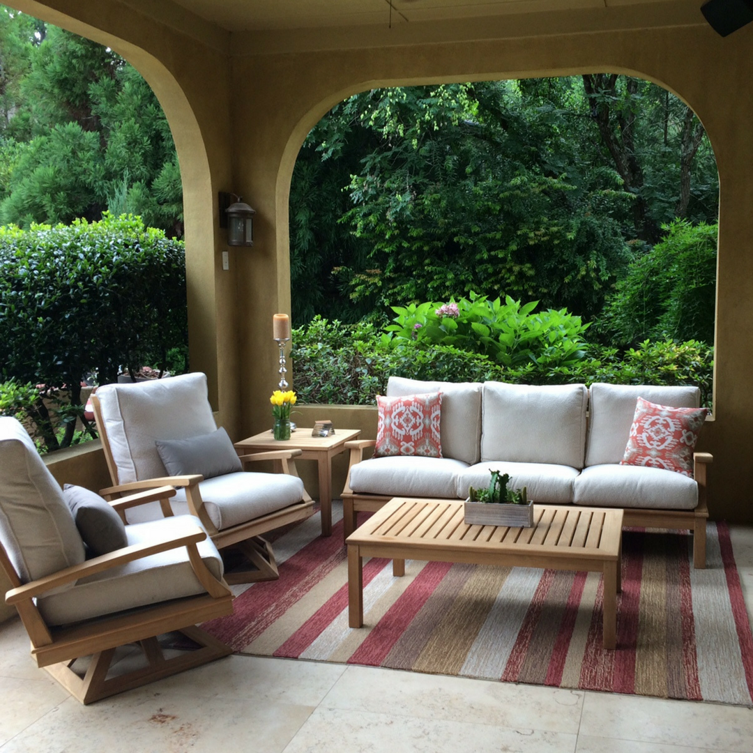 Genial All Weather Outdoor Rugs: Define Your Outdoor Living Space   AuthenTEAK  Outdoor Living