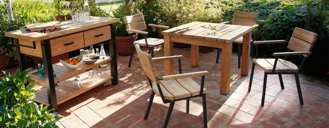 barlow tyrie titan sturdy rustic teak furniture authenteak