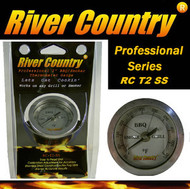 "2"" River Country Adjustable Stainless Steel Adjustable BBQ, Grill, Smoker & Pit Thermometer (RC-T2SS)"