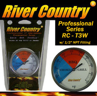 "3"" River Country Adjustable BBQ, Grill, Smoker & Pit Thermometer (RC-T3W) (1/2 npt)"