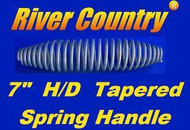 "7"" INCH STAINLESS STEEL SPRING HANDLE For BBQ GRILLS, SMOKERS, & WOOD FURNACES"
