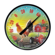 "ACU-RITE ROOSTER CHICKEN BARN FARM GARDEN YARD OUTDOOR THERMOMETER 12"" DIAMETER"