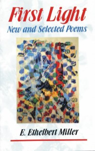 Front cover: First Light: New and Selected Poems