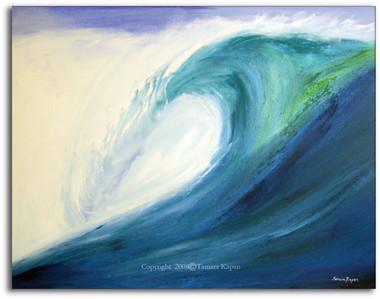 Blue Wave Painting by Tamara Kapan
