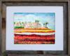 8 x 10 inch Carlsbad Flower Field fine art print by Dotty Reiman in an 11 x 14 inch barn wood frame