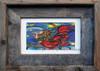4 x 6 inch mermaid art print titled Creating Inspiration by Tamara Kapan in a 5 x 7 inch barn wood frame