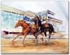 Day At The Races original horse racing watercolor by Dotty Reiman