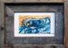 4 x 6 inch surf art print titled Dove Tail by Tamara Kapan in an 5 x 7 inch barn wood frame