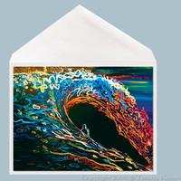 Eclipse Wave Art Greeting Card by Tamara Kapan