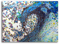 Finding Peace abstract wave art by Tamara Kapan