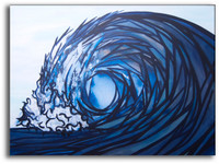 Original Abstract Wave Painting by Tamara Kapan titled Fractured