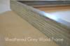 Weathered grey wood frame