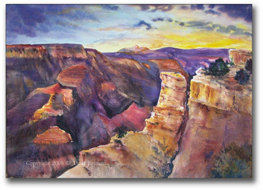 Grand Canyon Watercolor by Dotty Reiman