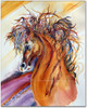 Rein Dance watercolor painting by Dotty Reiman