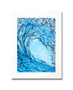 12 x 16 inch abstract wave print titled Liquid Courage by Tamara Kapan matted to fit a 16 x 20 inch frame