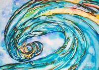 Wave Art by Tamara Kapan titled Liquid Glass