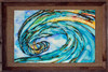 "Original wave painting by Tamara Kapan titled ""Liquid Glass"""
