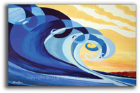 Mavericks - SOLD Original Wave Art Painting by Tamara Kapan
