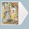 The Patio watercolor greeting card by Dotty Reiman