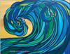 Abstract Wave Art by Tamara Kapan titled Rogue Wave