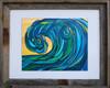 8 x 10 inch Wave Art titled Rogue Wave by Tamara Kapan in an 11 x 14 inch barn wood frame
