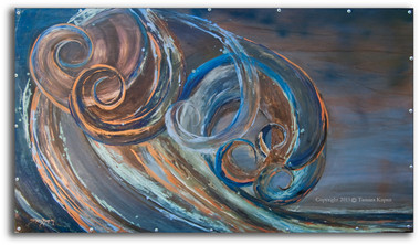 MIxed Media Wave Art by Tamara Kapan